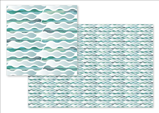 fabric - Wavy Stripes by Dalu Design