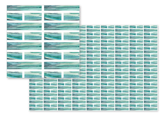 fabric - Seaside Bricks by Dalu Design