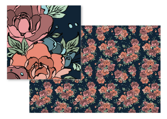 fabric - Dancing Peonies by Jessica DItri Mares