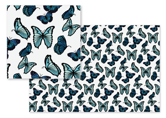 fabric - Blue Butterfly Garden by Oh So Smitten