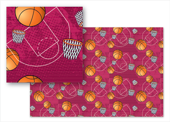 fabric - Basketball Love by Cindy Taylor