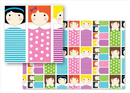 fabric - Girls! Girls! Girls! by Cindy Taylor