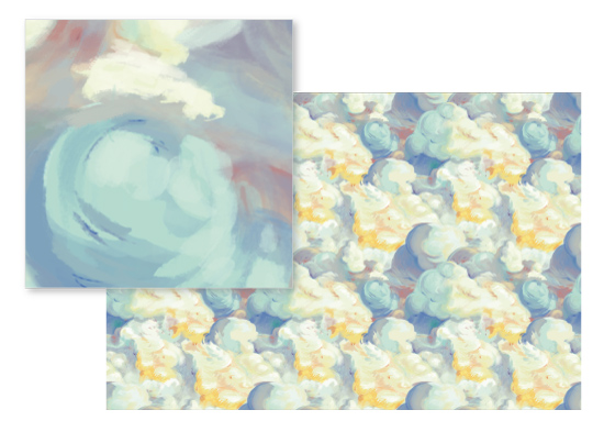 fabric - Abstract Painterly Cloudscape by Jessica DItri Mares