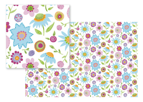 fabric - Pop Floral by Amy Hall