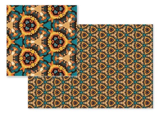 fabric - Tri Blue Dream by OlafOriginals