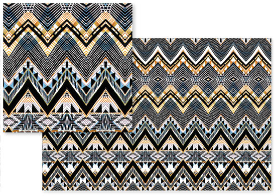 fabric - Ethnic Tribal ink and pen by Oana Prints