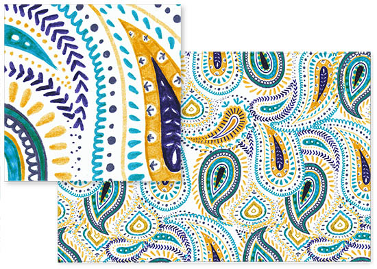 Paisley - water marker doodle