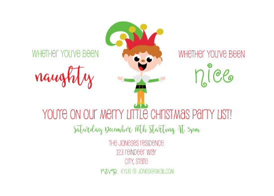 party invitations - The Party Planner Elf by eva jones