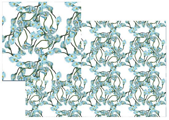 fabric - Calla swirl by Reka Lena