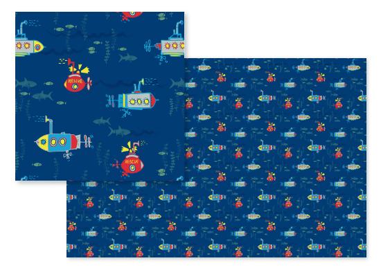 fabric - Submarines Ahoy by Eva Marion