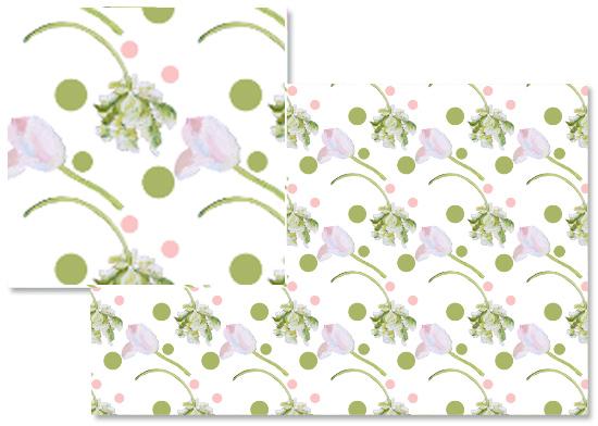 fabric - Polka dot tulip by Reka Lena
