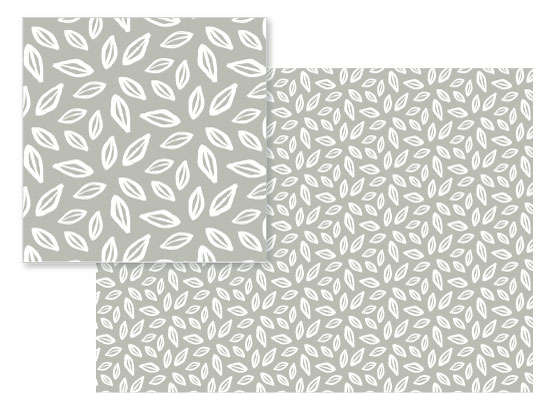 fabric - organic leaves by Guess What Design Studio