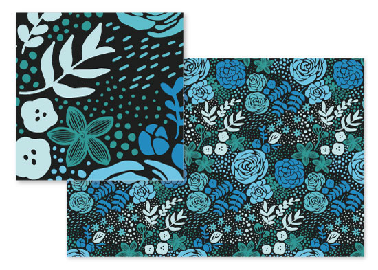 fabric - Bold Floral by Stacey Day