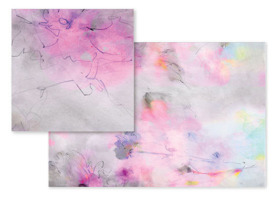 fabric - Floral Sketches by Lori Wemple