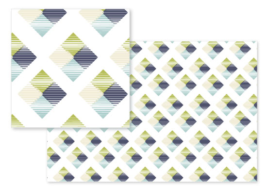 fabric - Fractured Squares by Elky Ink