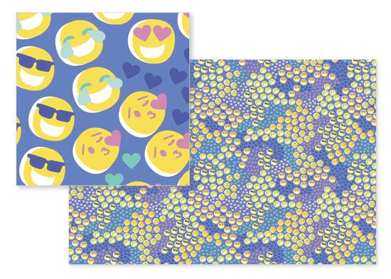 fabric - ROTFL Emoji Dots by Kelsey Mucci