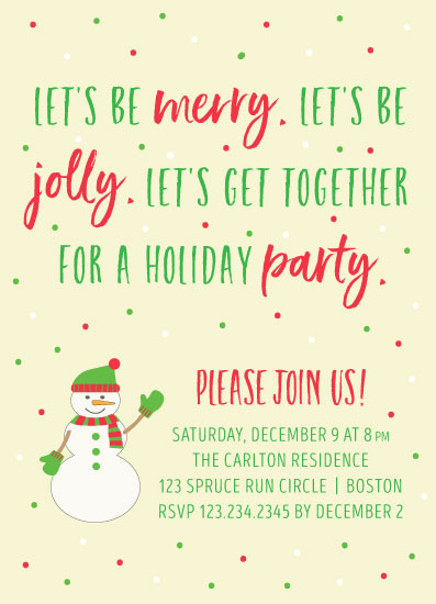party invitations - Merry and Jolly by LouisaKay