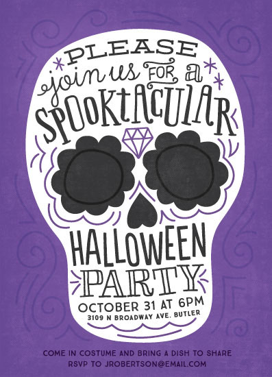 party invitations - Spooktacular by Jessie Steury