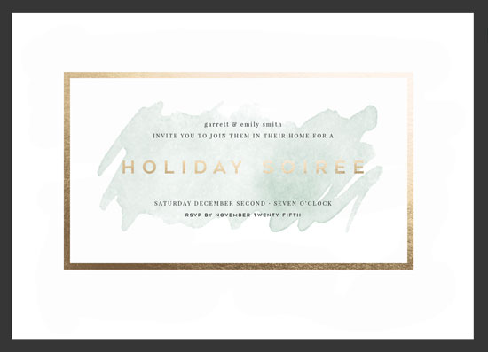 party invitations - Celadon Soiree by Ashton Rynearson