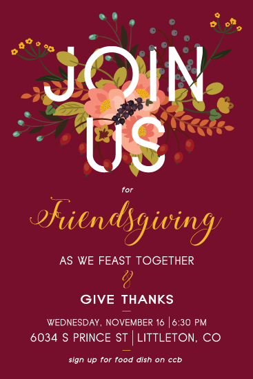 party invitations - Friendsgiving by Jessica Sonnenberg