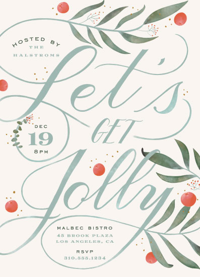 party invitations - Jolly by Leah Bisch