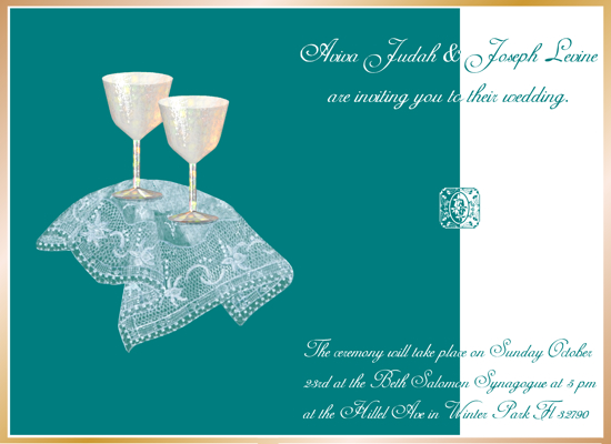 party invitations - Cups with lace by Carmelle Jolin
