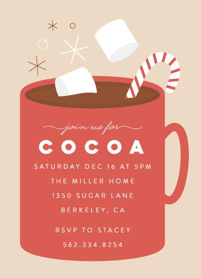 party invitations - Cocoa Party by Cat Caudillo