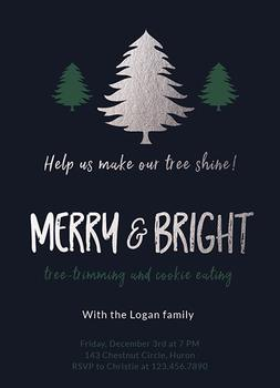 Merry and Bright Trimming party