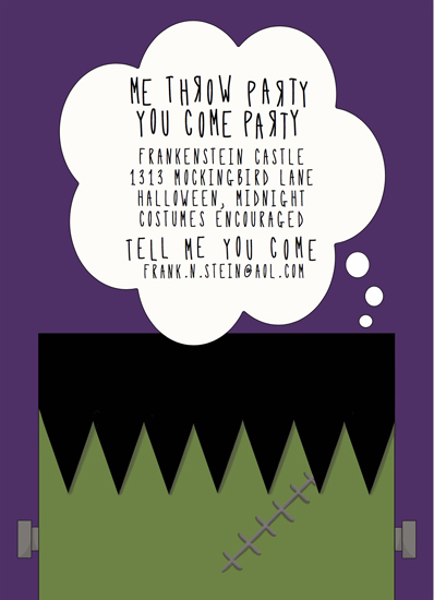 party invitations - Monster Mash by MakeMoody