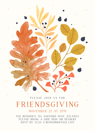 party invitations - Rustic Friendsgiving by Paper Raven Co.