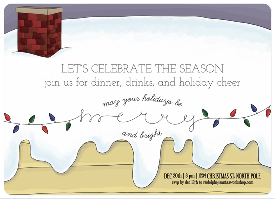 party invitations - Merry & Bright by MakeMoody