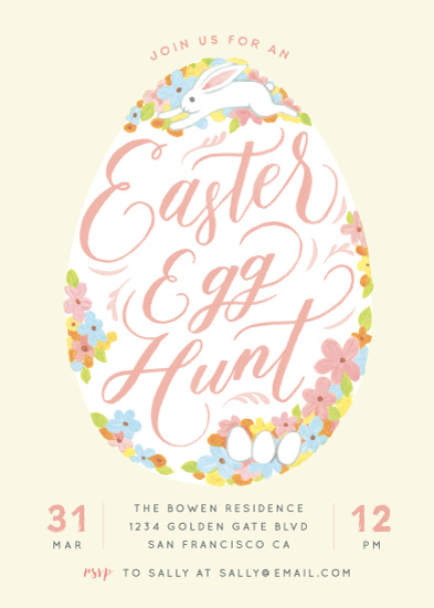 party invitations - Easter Egg Hunt by Four Wet Feet Studio