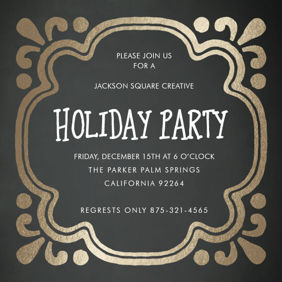 party invitations - Framed Holiday by High5ive Creative