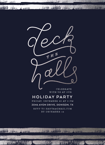 party invitations - Deck the Halls by Cina Catteau