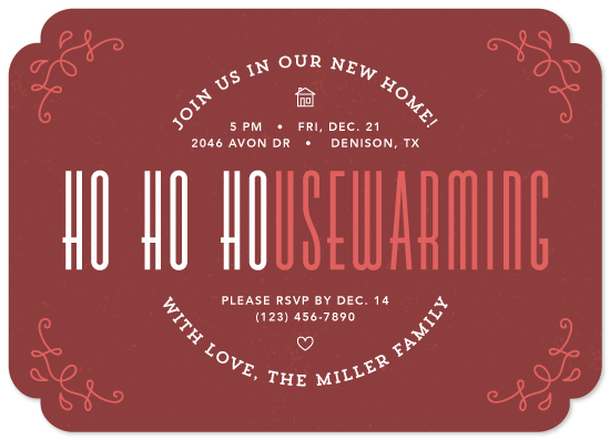 party invitations - Ho Ho Housewarming by Cina Catteau