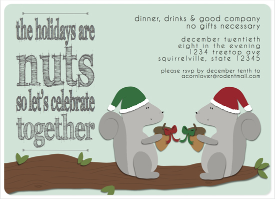 party invitations - The Holidays Are Nuts by MakeMoody