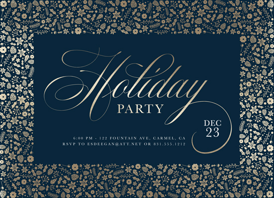 party invitations - holiday botanicals by Erin Deegan