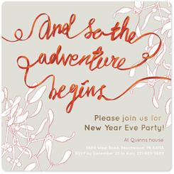 And So The Adventure Begins New Year Eve Party Invitation Square