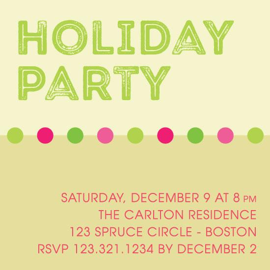 party invitations - Trendy Holiday by LouisaKay