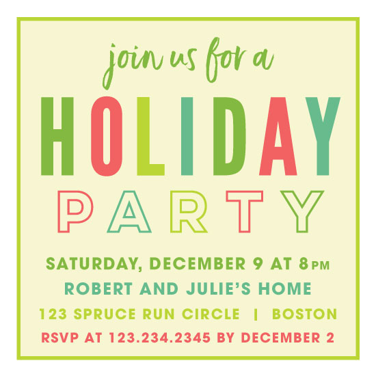 party invitations - Simply Merry by LouisaKay
