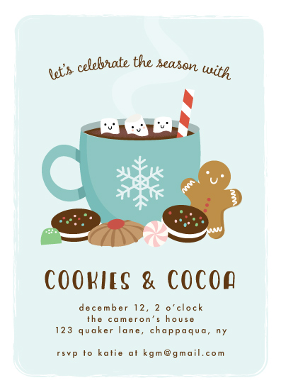 party invitations - Hot Cocoa by Annie Holmquist