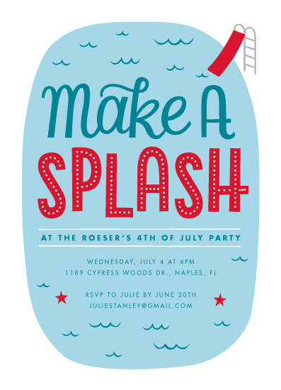 party invitations - Make A splash by Kay Wolfersperger