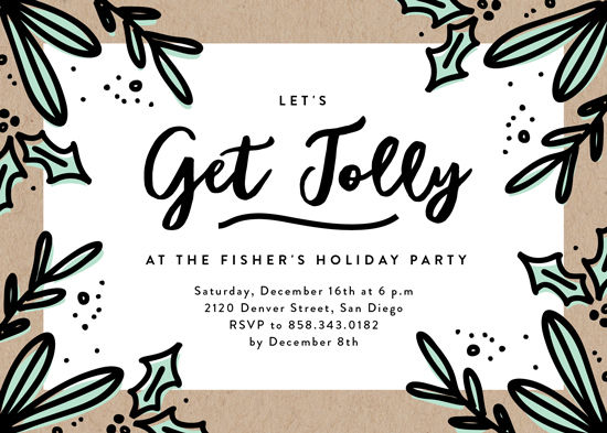 party invitations - Get Jolly by Erica Krystek