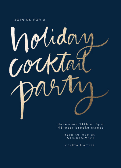 party invitations - Bold Cocktail by Lea Velasquez