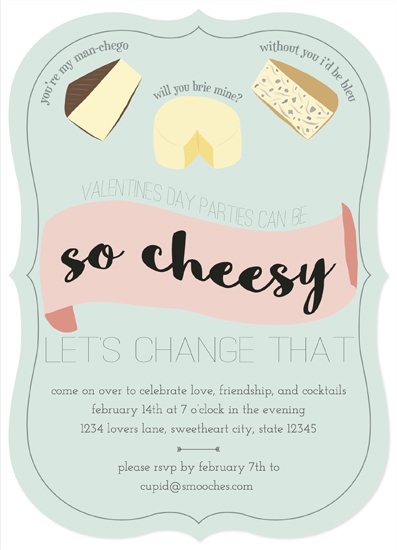 party invitations - So Cheesy by MakeMoody