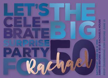 big 50 surprise invite