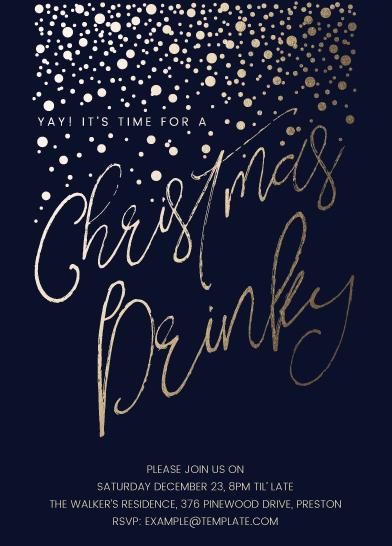 party invitations - Christmas Drinky by Katarina Berg