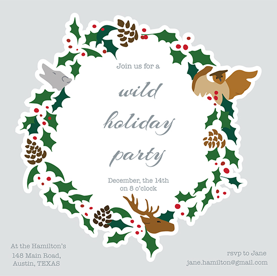 party invitations - Wild winter party by ALIX SORDET