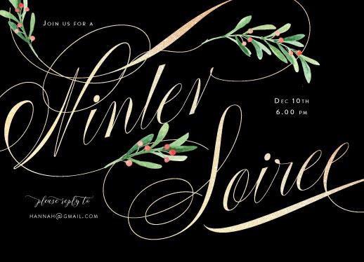 party invitations - A winter soiree by Benita Crandall