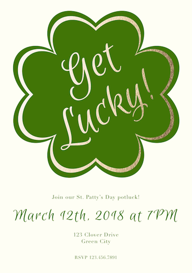 party invitations - Get Lucky! by Designs by Aili